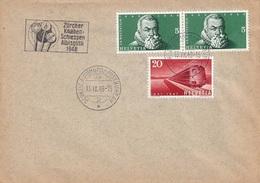 Schweiz Suisse 1948: Zu 279+281 Mi 486+488 Yv 443+445 O Zürcher Knabenschiessen Albisgütli 13.IX.48 AUTOMOBIL-POSTBUREAU - Tiro (armi)