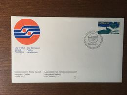 CANADA 1979 PREMIER JOUR FDC  OTTAWA CHAMPIONNAT DE CANOE KAYAK JONQUIERE QUEBEC - 1971-1980
