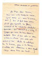 Lettre Manuscrite 1980 Voisins Papa Maman Famille Villaz Billy Ozerailles - Manuscritos