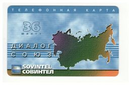 RUSSIA - SOVINTEL - Prepaid Card - 36 MIN - Plastic - - Ukraine