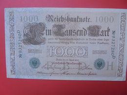 Reichsbanknote 1000 MARK 1910 CACHET VERT  (B.15) - 1000 Mark