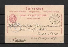 1900 HEIMAT BERN → 10 Cts. Postkarte Von MÜLENEN Nach Berlin - Postwaardestukken