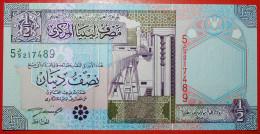 ·OIL INDUSTRY★ LIBYA★ 1/2 DINAR (2002)! UNC CRISP! LOW START ★ NO RESERVE! - Libyen