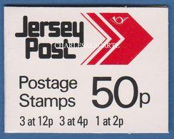 JERSEY 1988  COMPLETE ARROW SACHET/BOOKLET 50p  3x12p. STAMPS ETC  S.G. SBS 14 - Jersey