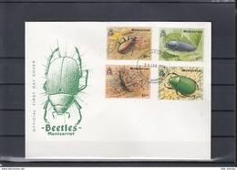 Montserrat Michel Cat.No. FDC 883/886 + Sheet 66 Beetles - Montserrat