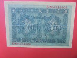Reichsbanknote 50 MARK 1914-7 CHIFFRES CIRCULER  (B.15) - 50 Mark