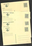 Belgio/Belgique/Belgium: Intero, Stationery, Entier, 4 Pezzi, 4 Pièces, 4 Pieces - Stamped Stationery