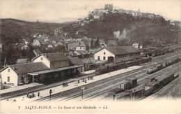 15 - Saint-Flour - La Gare Et Vue Générale - Saint Flour
