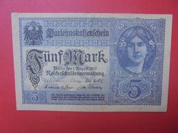 Darlehnskassenschein :5 MARK 1917 VIOLET 8 CHIFFRES (B.15) - [ 2] 1871-1918 : Impero Tedesco