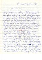 Lettre Manuscrite 1976 Bardy Roger Villaz - Manuscritos