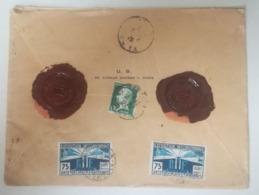 LETTRE CHARGE 1925 -Valeur Declaree 1000 Frs - 32grs - Marcofilie (Brieven)