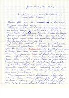 Lettre Manuscrite 1976 Simone Pierre Toret Famille - Manuscritos