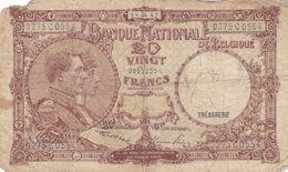 Belgique 20 Francs 1947  Ce Billet A Circulé - Belgium
