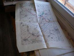 Poverljiva Mapa Confidential Map Vrsac Versecz Banat 50x70 Cm - Maps