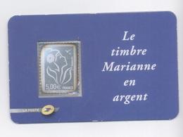 France N°3925 Type Marianne De Lamouche Autoadhésif Argent 5 Euro Neuf Luxe - Autoadesivi