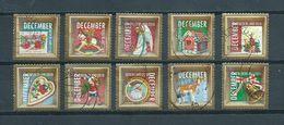 2010 Netherlands Complete Set Christmas,kerst,noël,weihnachten Used/gebruikt/oblitere - 1980-... (Beatrix)