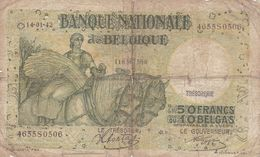Belgique 50 Francs 1942  Ce Billet A Circulé - Belgium