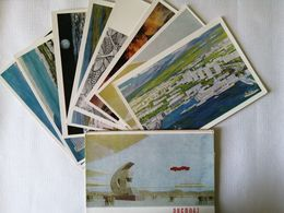 """1968 USSR..   VINTAGE SET OF  POSTCARDS... """" MONTREAL WORLD EXPO-67"""".VERY RARE!!! - Museum"""