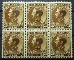 BELGIQUE Yv N°402 ** Rare. Bloc De 6 Neuf** MNH - 1934-1935 Leopold III