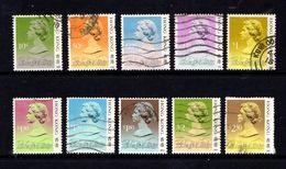 HONG  KONG    1987    Queen  Elizabeth  II    Part  Set  Of  10    USED - Hong Kong (...-1997)