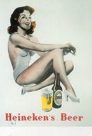 CPM Dessin Assise Publicité Pour Heineken - 1950 - Pin-Ups
