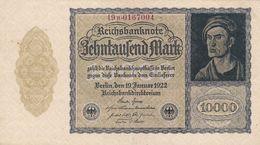 Allemagne 10000  Marks  1922  Ce Billet A Circulé - Germany