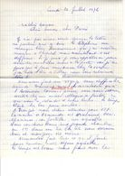 Lettre Manuscrite 1976 Simone Pierre Toret Famille Villaz Tronget Armaudes Montlucon - Manuscritos