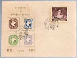 Portugal, 1953, 1º Centenário Do Selo Postal Portugês, Carimbo De Lisboa - 1910-... Republic
