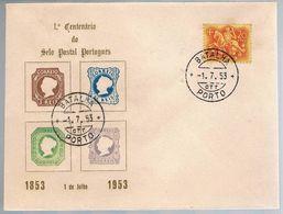 Portugal, 1953, 1º Centenário Do Selo Postal Portugês, Carimbo Do Porto - 1910-... Republic