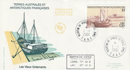 Terres Australes Et Antarctiques Françaises 2001 Bateaux Les Vieux Gréements - FDC