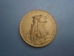 Médaille LEONARD DE VINCI -  FLORENTINVS  SCRIBIT QVAM SVSCITAT ARTEM  HERARD F - Autres