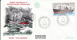 Terres Australes Et Antarctiques Françaises  1993 Navire Italo Marsano - FDC