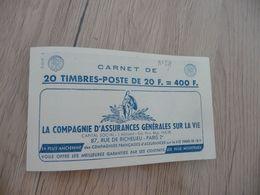 Carnet France 20 Francs Bleu Marianne De Muller  20 Timbres Calberson Satam Grammont Rolla TBE - Carnets
