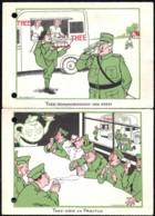 MOBILISATIE Januari 1940 ---2 Humor Kaarten THEE In Portvrijdom - Pays-Bas