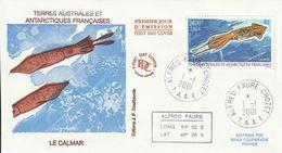 Terres Australes Et Antarctiques Françaises   2001 Le Calmar - FDC