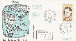 Terres Australes Et Antarctiques Françaises   2001 Jean Coulomb - FDC
