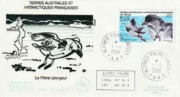 Terres Australes Et Antarctiques Françaises   2001  Oiseaux - FDC