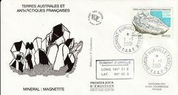 Terres Australes Et Antarctiques Françaises   2001 Mineral Magnetite - FDC