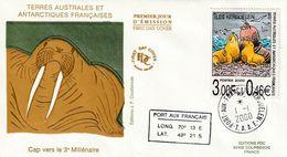 Terres Australes Et Antarctiques Françaises    2000 Mamifère - FDC