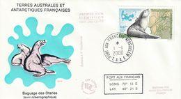 Terres Australes Et Antarctiques Françaises  2000  Otaries - FDC