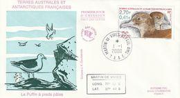 Terres Australes Et Antarctiques Françaises  2000   Oiseaux Le Puffin - FDC