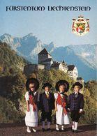 Liechtenstein, Fürstentum, Castle Of Vaduz, Wappen, Nationaltracht, Unused - Liechtenstein