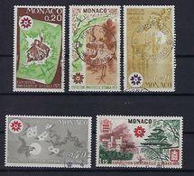 "Monaco YT 822 à 826 "" Expo D'Osaka "" 1970 Oblitéré - Verzamelingen (in Albums)"