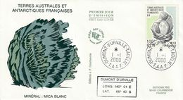 Terres Australes Et Antarctiques Françaises 2000 Minéral Mica Blanc - FDC