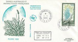 Terres Australes Et Antarctiques Françaises  1999 Flore - FDC