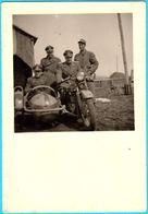 WW2 - CROATIA OFFICIERS NDH On OLD MOTORCYCLE (SIDECAR) - Original Old Photo Moto Motorrad Motociclo Side-car Beiwagen - Motos