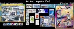 TAAF Année Complète 2008  (NEUF) :  Yv. 494 à 520 Dont 3 BF (27 Tp)  - Voir Description  ..Réf.TAF21063 - Full Years