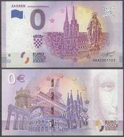 Croatia Hrvatska Zagreb 0 Euro 2019 Souvenir Banknote - Croatie