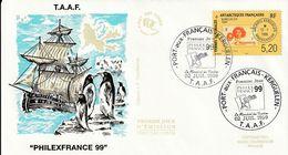 Terres Australes Et Antarctiques Françaises 1999 - FDC