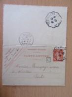 Entier / Carte-Lettre Smeuse 10c - Cachets Convoyeurs Trevillers à Morteau - Boîte Rurale C - Enteros Postales